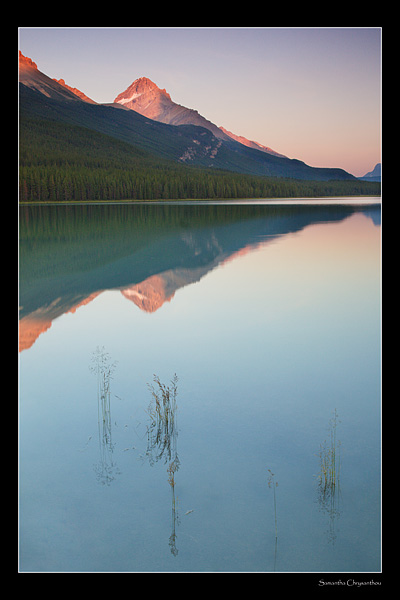 Sunset at Waterfowl Lake